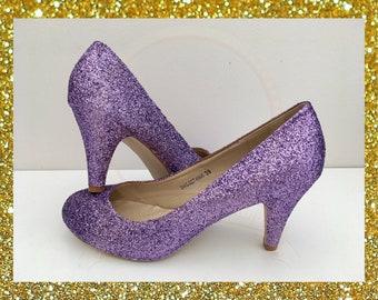 4e445177123ee Purple glitter shoes