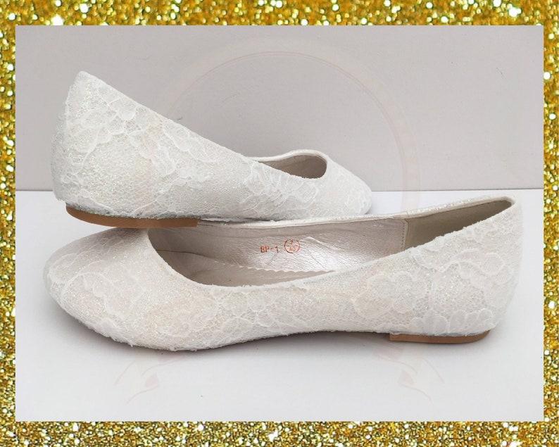d54c3a07d8ea White lace bridal shoes Lace flat shoes White bridal shoes
