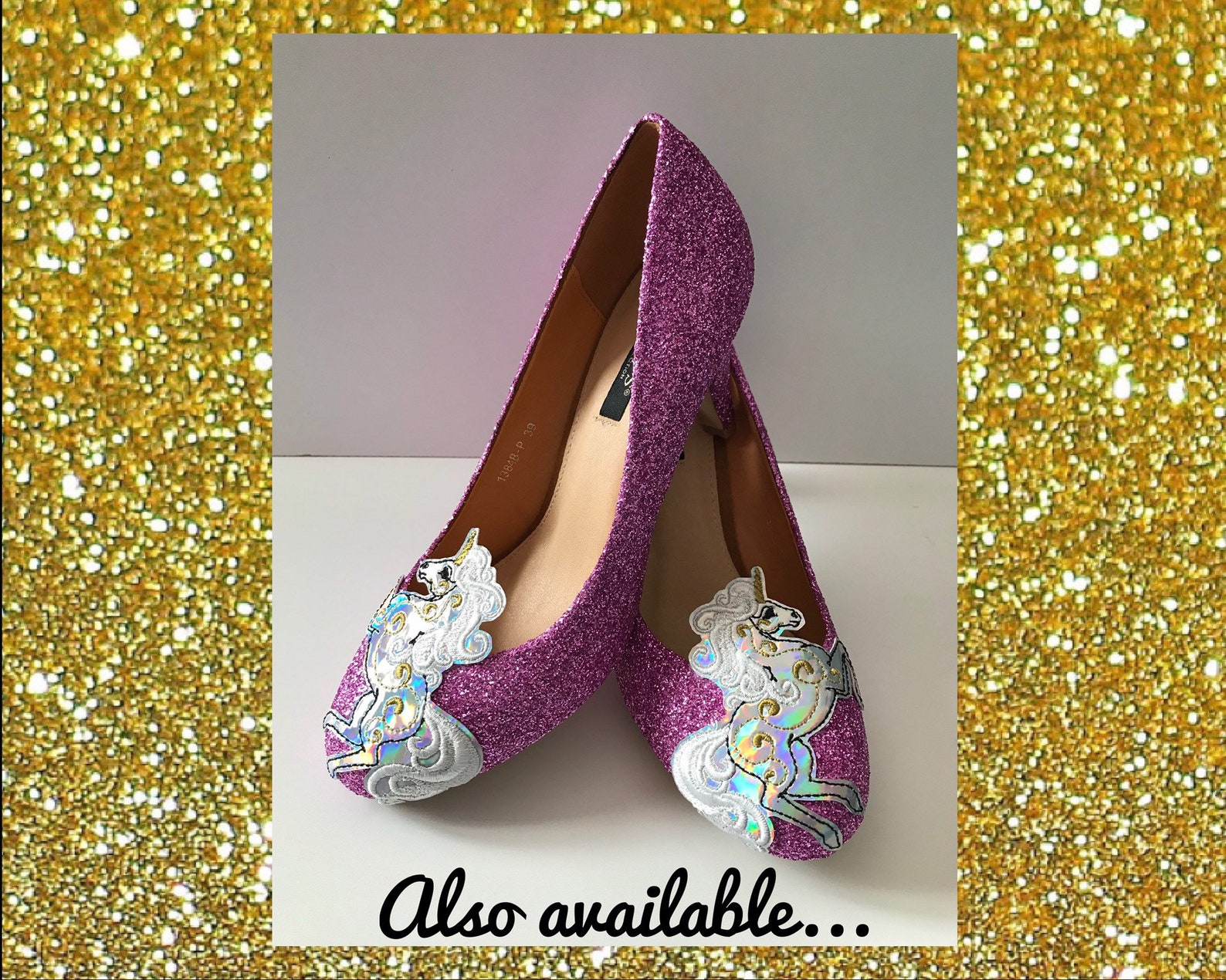 flat unicorn shoes, flat glitter shoes, custom unicorn flats, unicorn glitter shoes, holographic unicorn, pink ballet flats, uni