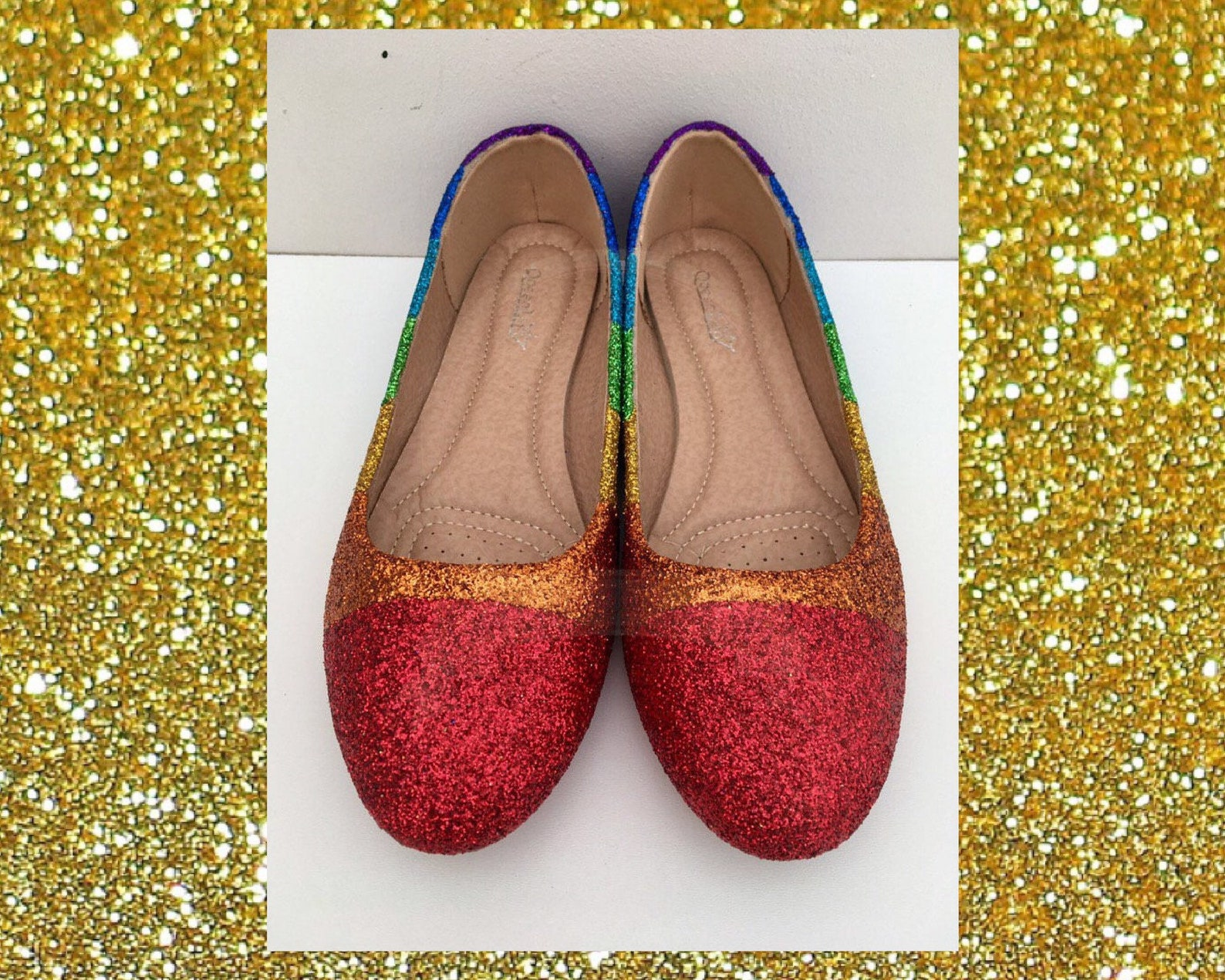 rainbow shoes for women, glitter shoes for women, rainbow glitter shoes, rainbow gift for women, ballet flat wedding shoes, prom
