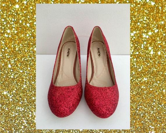 Roten Glitzer Fersen, rote Gericht Fersen, rotem Glitter Schuhe, individuelle Glitzer Fersen, Glitzer Damenschuhe, rote Braut Schuhe, Rubin rote