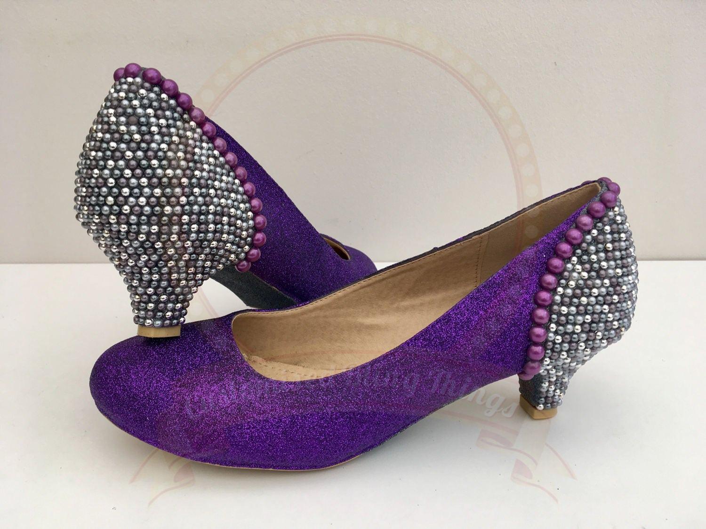 violet scintillant gris perle des talons - nuptiale cadbury Violet - nuptiale - - chaussures - demoiselle d'honneur - la f 085dc4