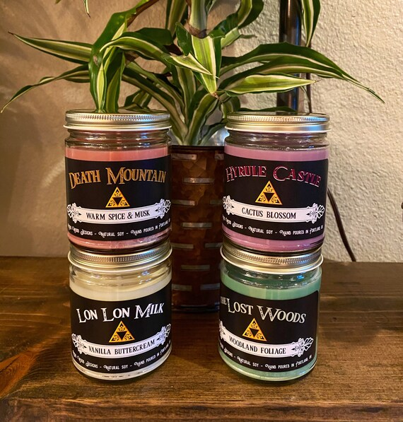 plus other fandoms. Lord of the Rings themed scented soy candle