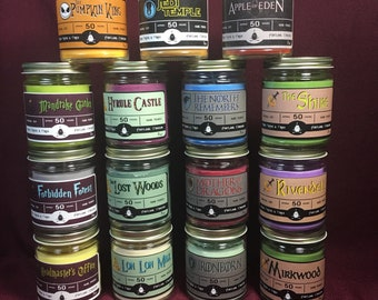 Fandom themed soy candles! Game of Thrones, Zelda, Lord of the Rings, NBC, Star Wars & more!