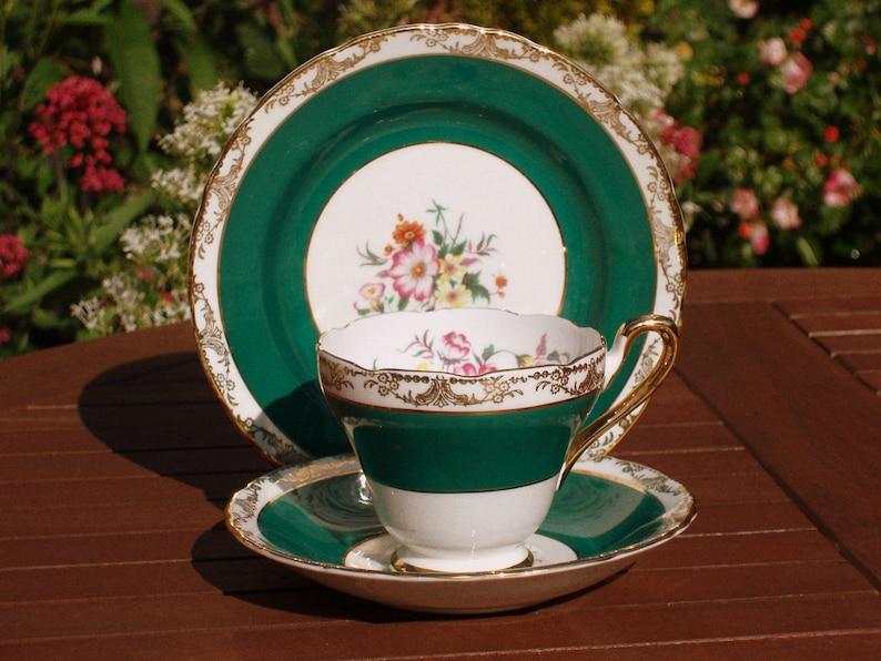 Vintage Sutherland China Trio Tea Cup Saucer  English Bone image 0
