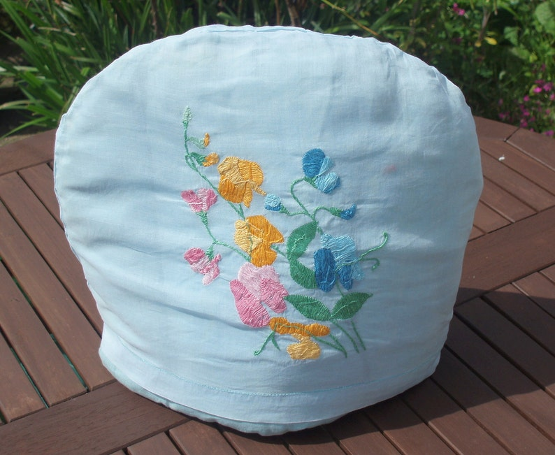 Vintage Hand Embroidered 1930's Tea Cosy image 0