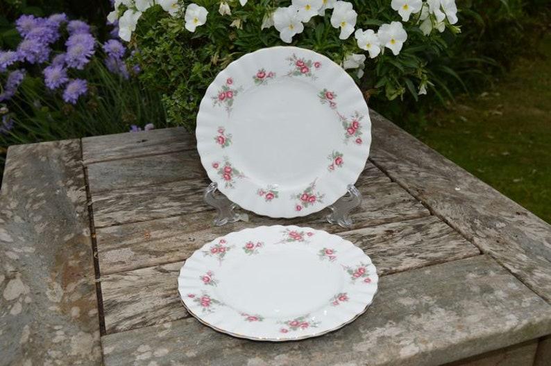 Set of 2 Richmond Bone China Tea Plates  Rose Time  English image 0