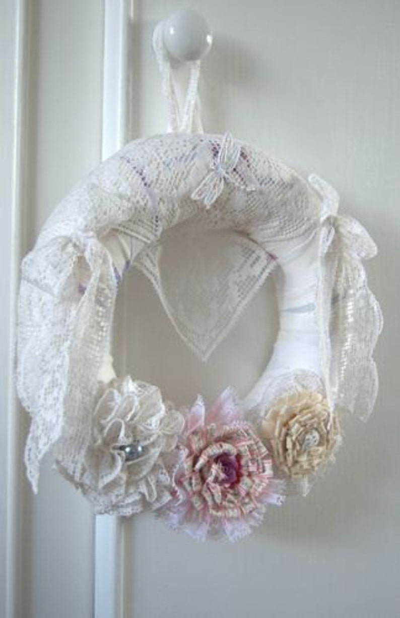 Beautiful Handmade Shabby Chic Wreath  10 image 0