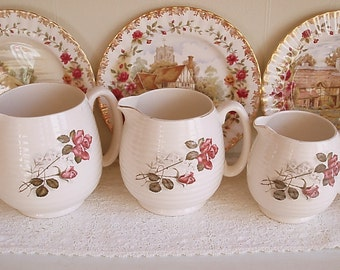 Set of 3 Vintage Beswick Jugs - Ideal for a cottage or country kitchen