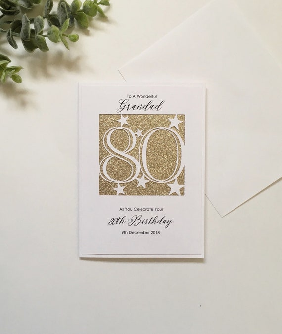 Personalised 80th Birthday Card Papercut