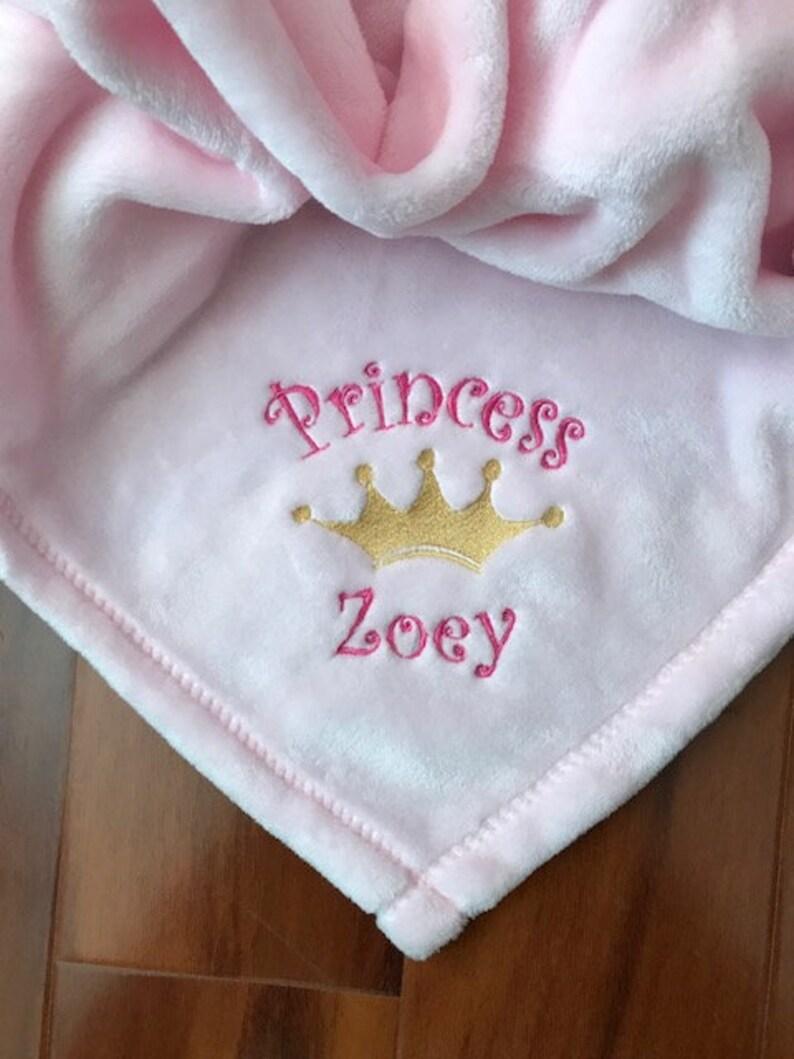 PERSONALIZED Monogrammed 30x40 Royal Princess Crown Blanket