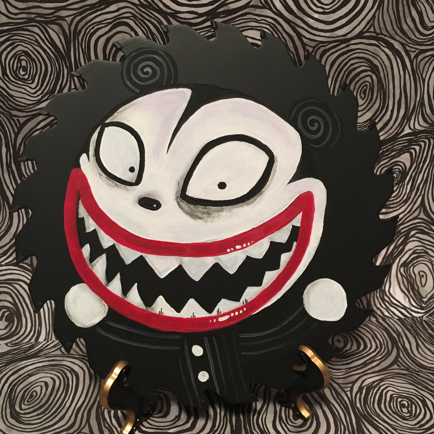 Scary Teddy from Nightmare Before Christmas on a real Circular   Etsy