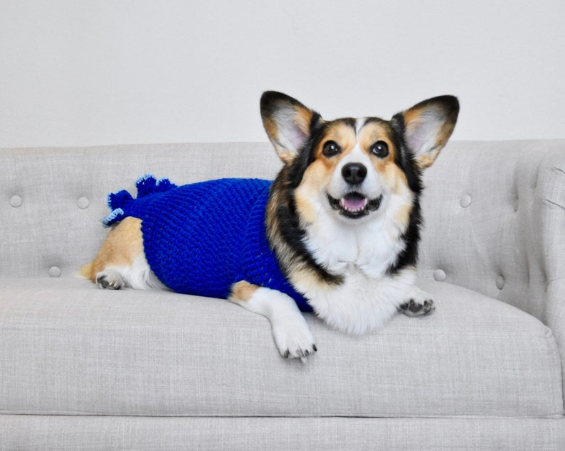 e1816f97ea874 Handmade Crochet Pembroke Welsh Corgi Sweater Dog Clothing