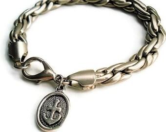 Stainless Steel Chain Bracelet Fathers Day Gift Charm Bracelet Men Jewelry Nautical Bracelet Gift For Men Statement Jewelry Gift For Dad