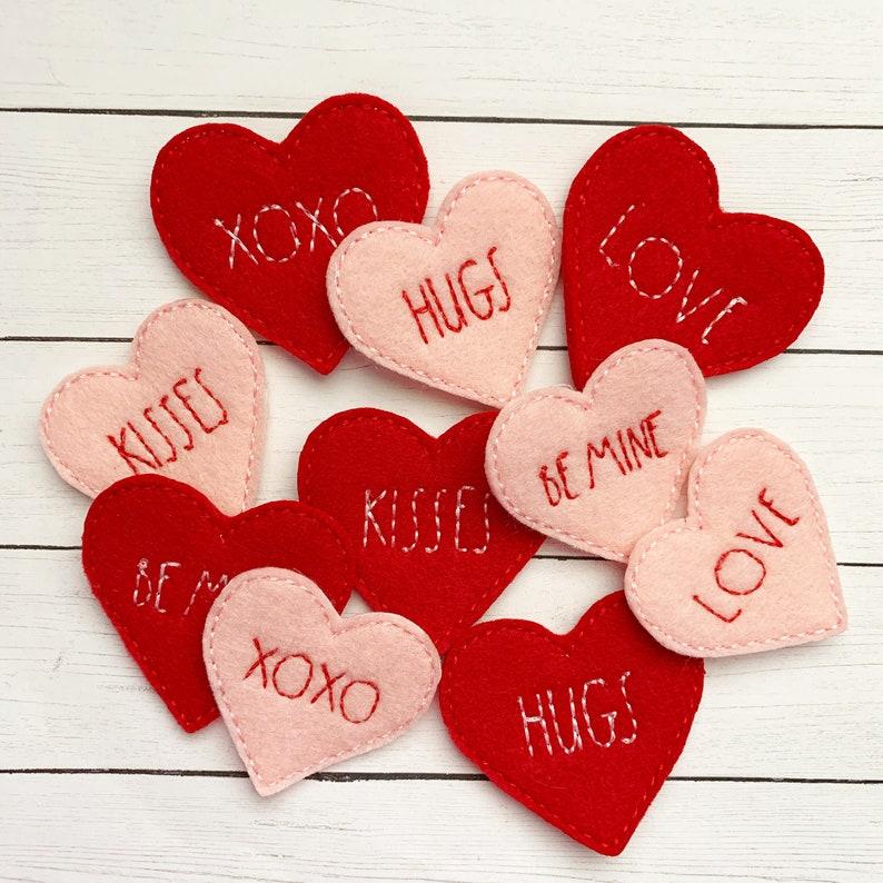 4 hugs heart felties multiple sizes available