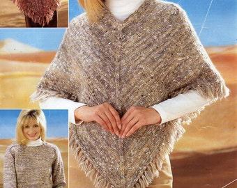 Knit poncho pattern | Etsy
