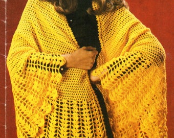 vintage womens crochet shawl crochet pattern pdf ladies semi circle crochet  wrap 4ply fingering pdf Instant Download 4d8a39ffa