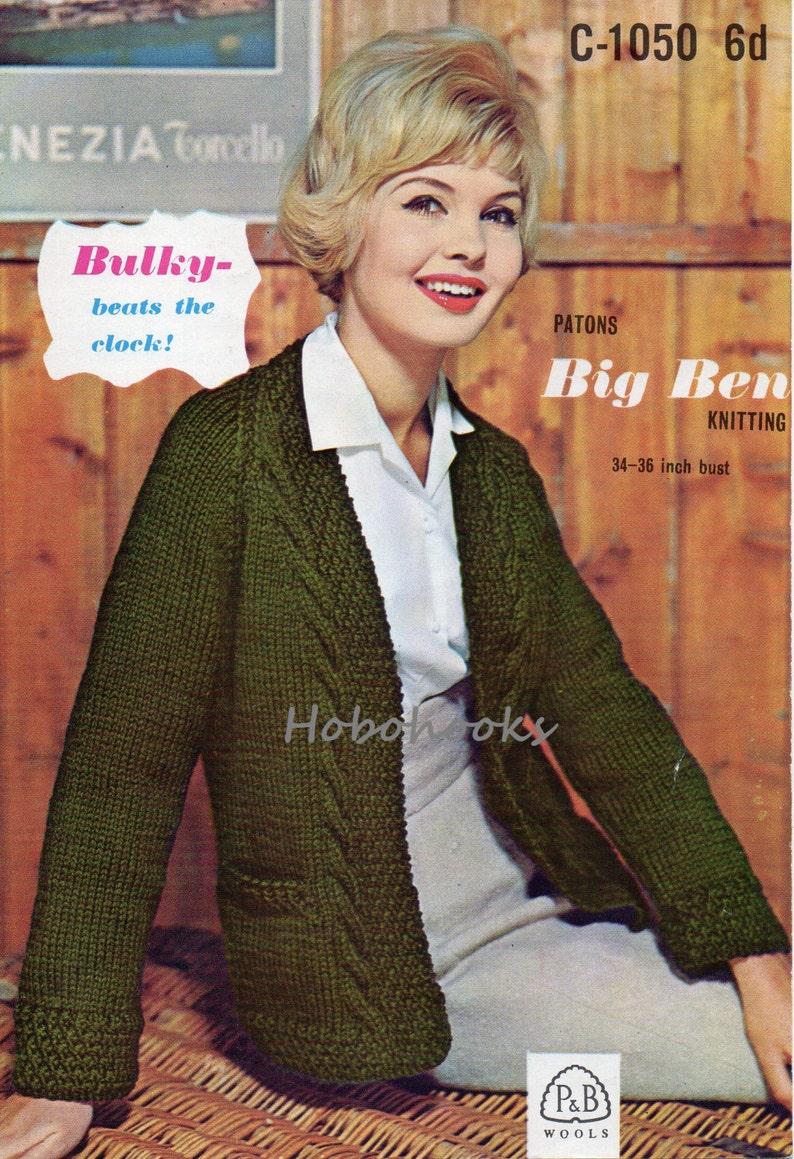d0093345bfc77 Vintage womens cardigan knitting pattern PDF ladies egde to
