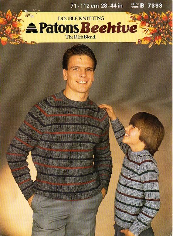 baby boys sweaters dk knitting pattern 112
