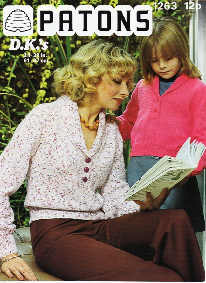 7ec6b6d8812da4 Womens sweater knitting pattern pdf vintage ladies girls