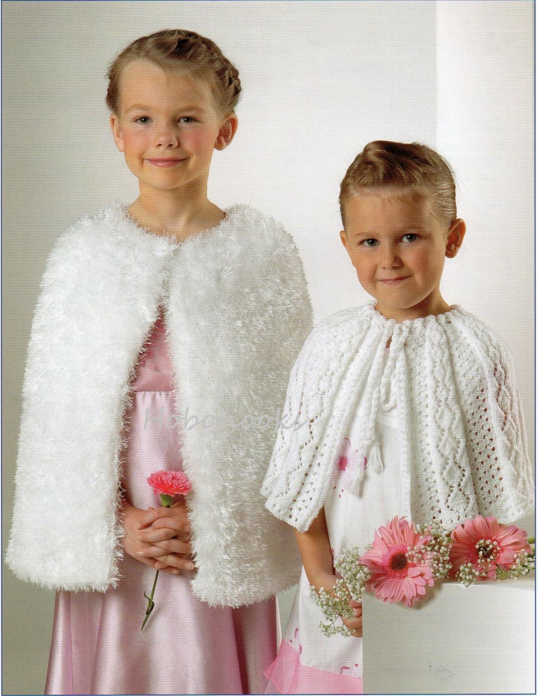 Girls Knitting Pattern Girls Capes Furry Cape Wedding Cape Eyelash ...