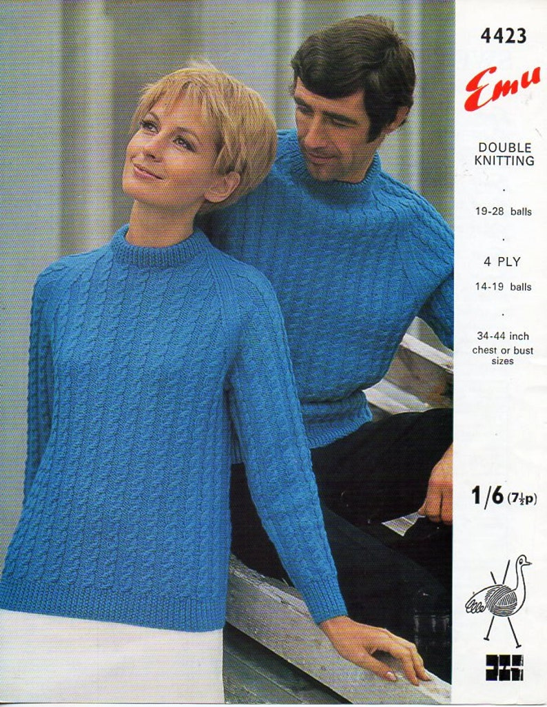 d4a969c2338d Womens mens DK   4ply sweater knitting pattern PDF ladies