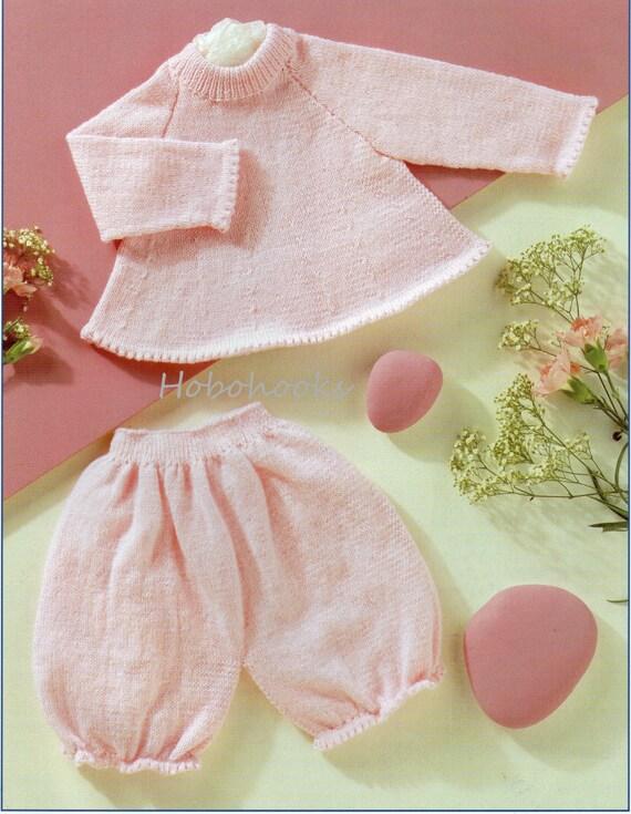 Baby Sweater Bloomers Set Knitting Pattern Pdf 4ply Premature Etsy
