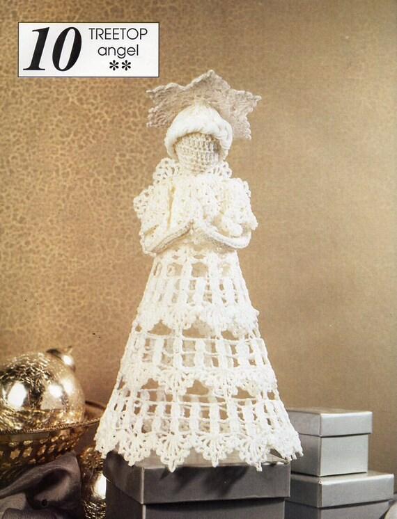 Crochet Christmas Tree Top Angel Crochet Pattern Pdf Xmas Tree Etsy