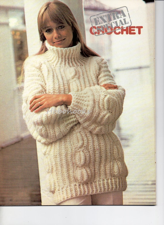 Ladies crochet jacket and knitted dress pattern in worsted 0082