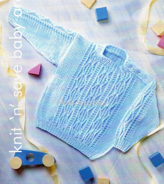 7254bcef6 baby Knitting pattern pdf baby childrens aran sweater button