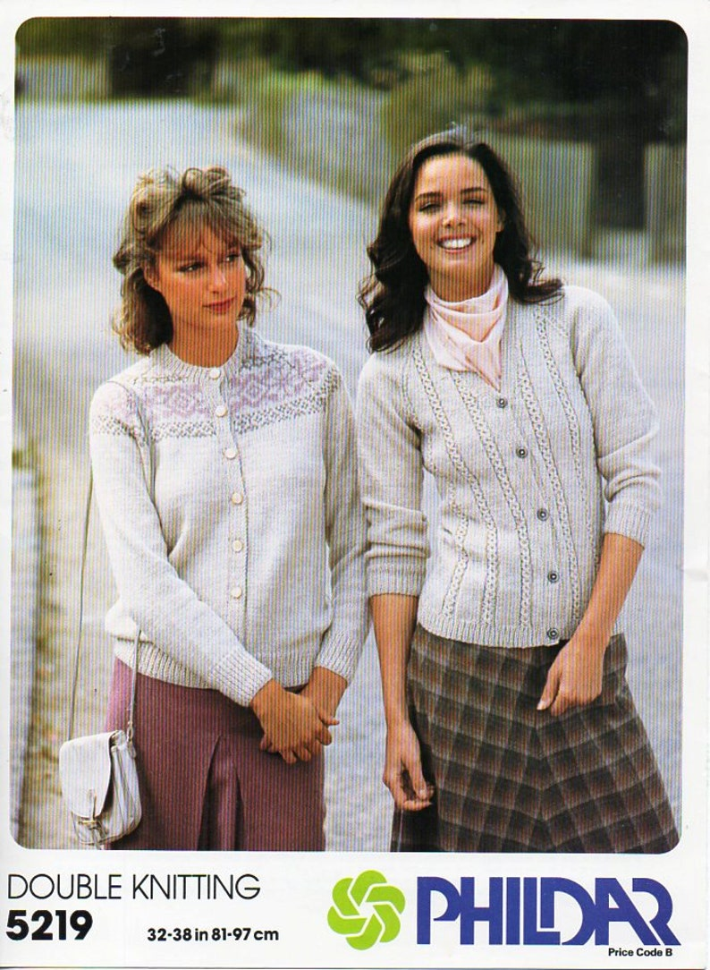 b53c3d7ed28b8 Womens fair isle cardigan knitting pattern pdf ladies fair