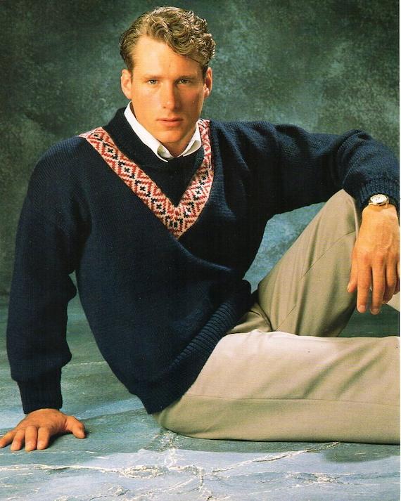 031b9c8f0789c Mens fair isle sweater knitting pattern pdf mens fairisle