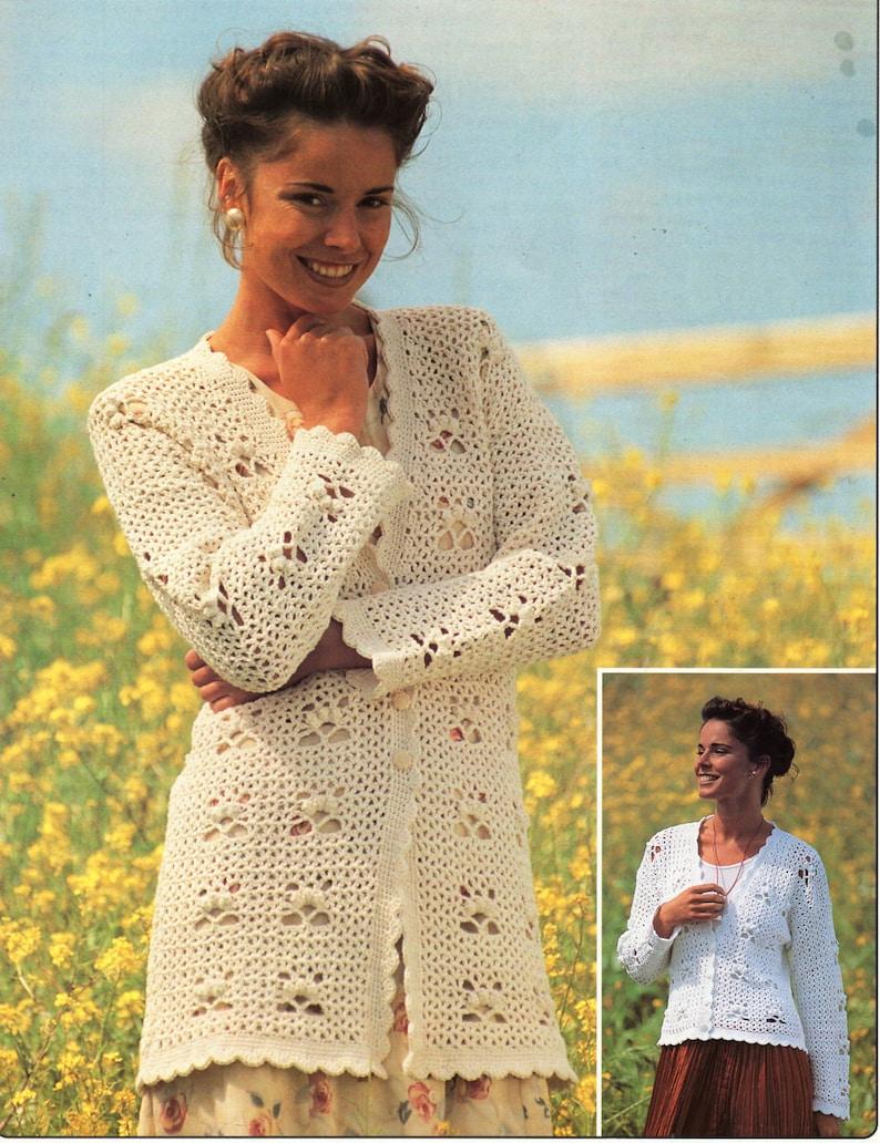 Womens Crochet Cardigan Pattern Crochet Pattern Pdf Long Or Etsy