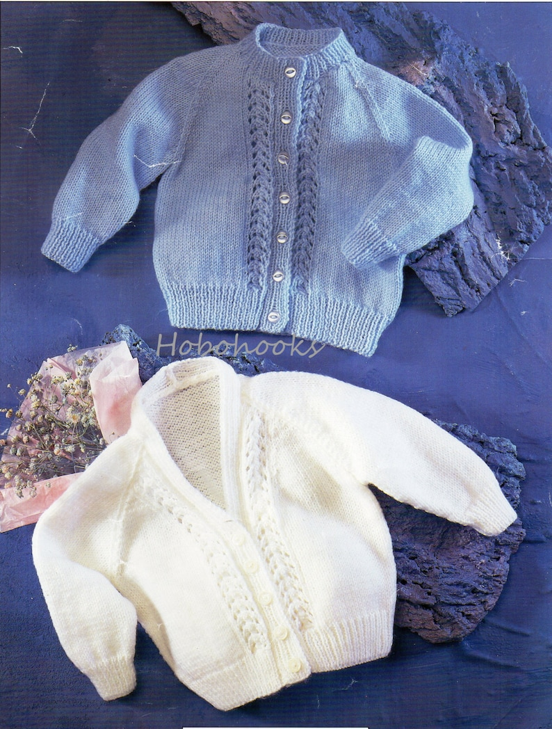 Baby Childs 4ply Cardigans Knitting Pattern Pdf Premature Etsy