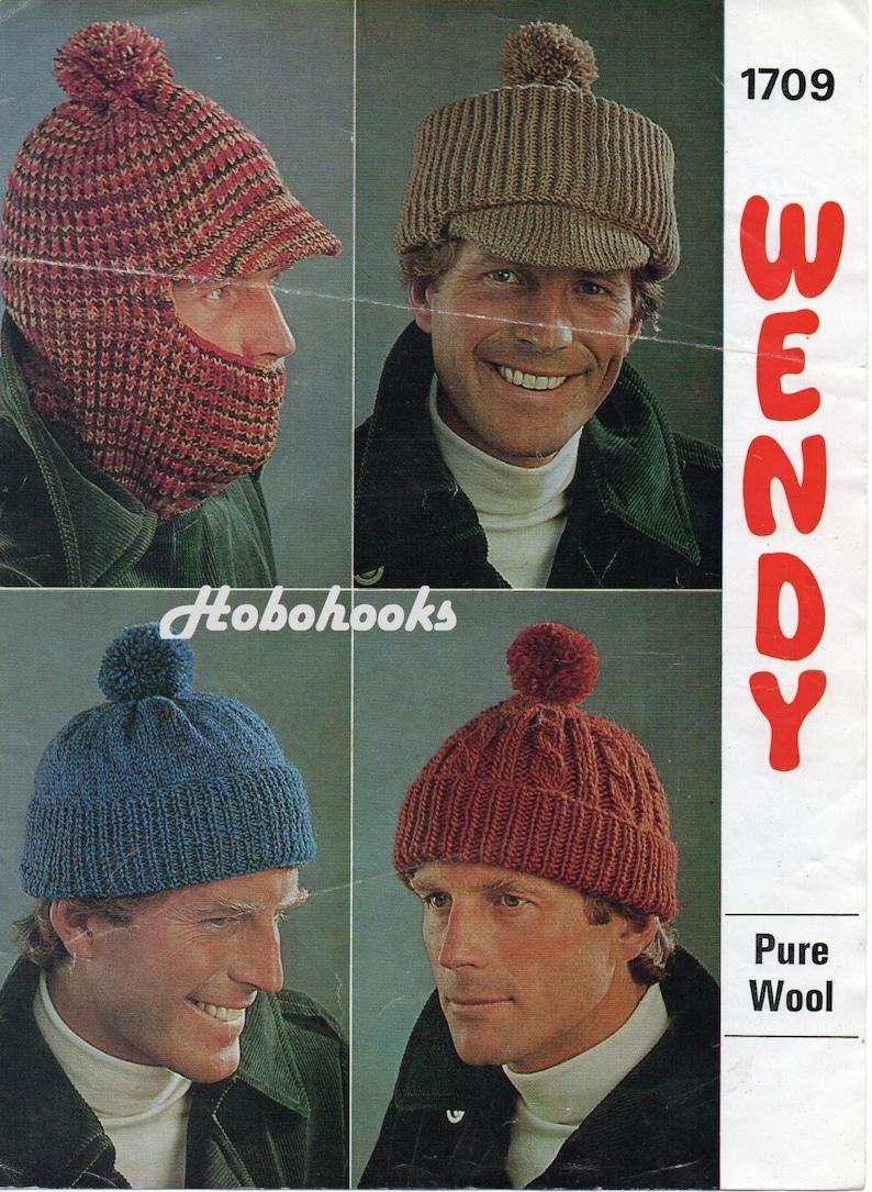 Mens hat knitting pattern pd mens cap balaclava bobble hat  404a33706e9