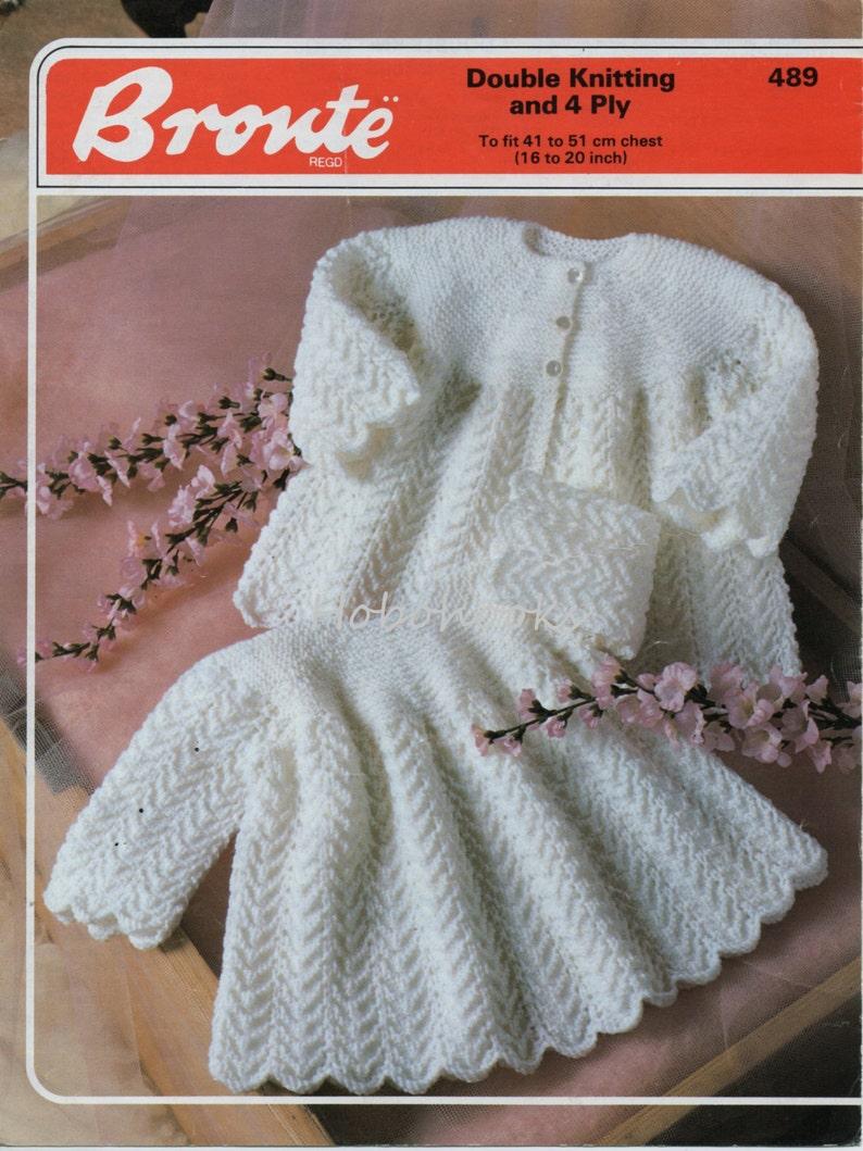 5ba647bf1 Baby Knitting Pattern Baby Matinee Coat Matinee Jacket Baby