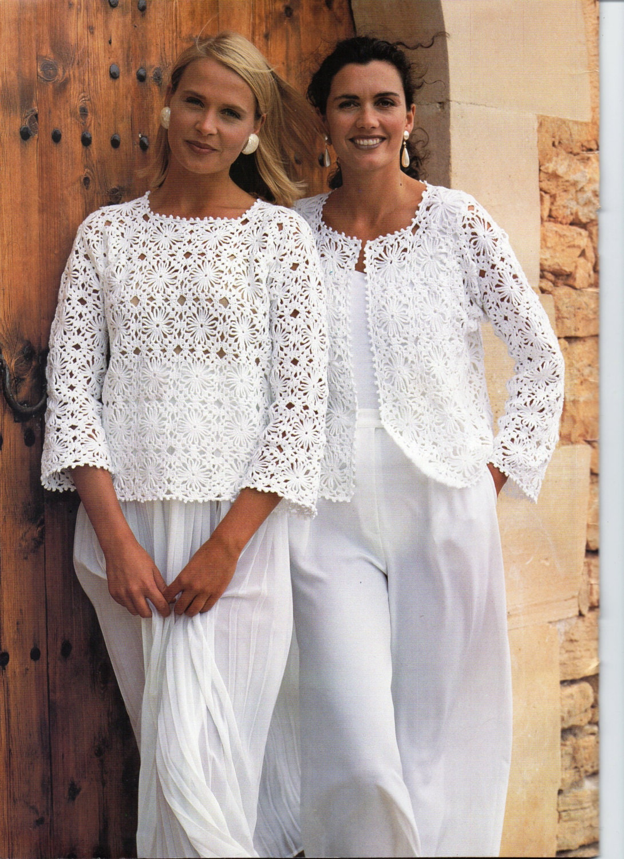 Womens Crochet Pattern Ladies Crochet Jacket Gilet Sweater Top Etsy