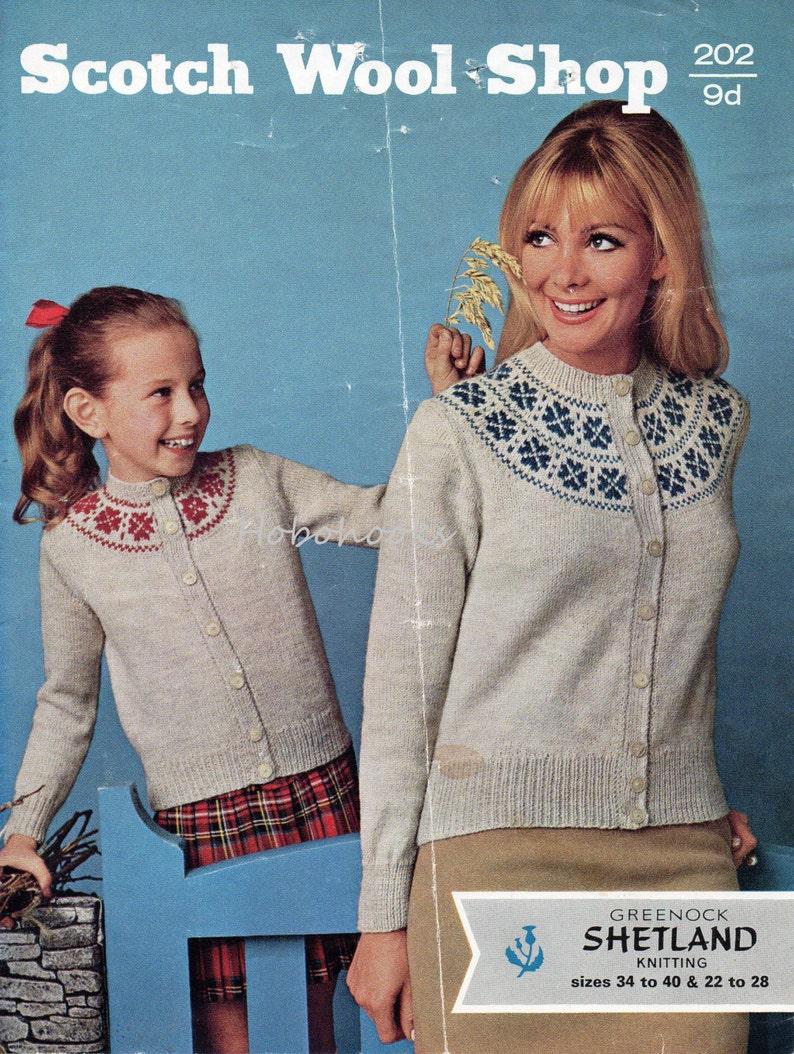 7c4cbfb54d235 Womens fair isle cardigan Knitting pattern pdf Ladies