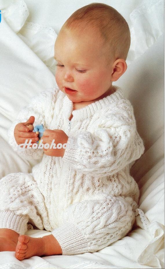 Baby All In One Baby Sleepsuit With Zip Romper Suit Aran