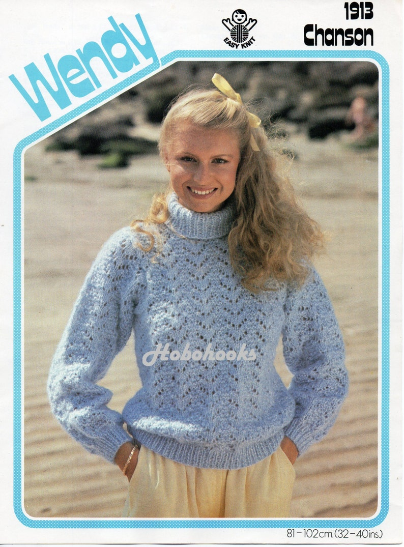 1889deaffc66 Womens lacy sweater polo neck knitting pattern pdf ladies