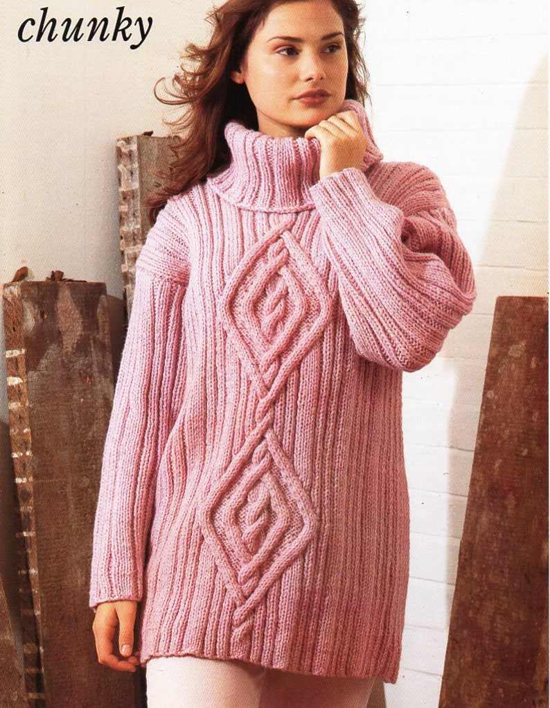 c4b3cd7ea best Womens Chunky Jumper Knitting Patterns image collection