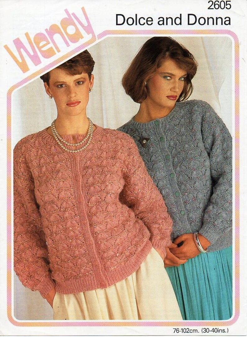 f5abbf1d2fd9f Womens cardigan knitting pattern pdf ladies lacy jacket round