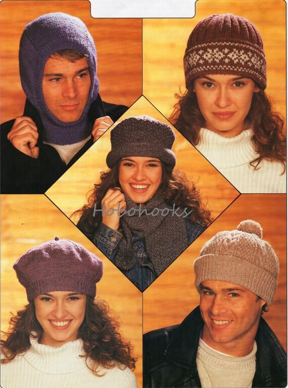 c66cba0044c womens   mens hats knitting pattern DK unisex knitting