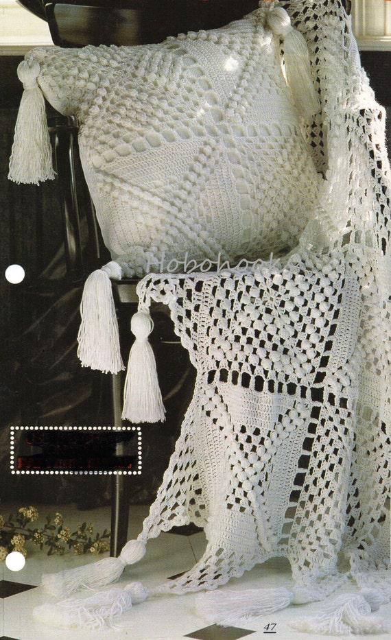 Crochet Cushion Throw Crochet Pattern Pdf Dk Lacy Crochet Etsy