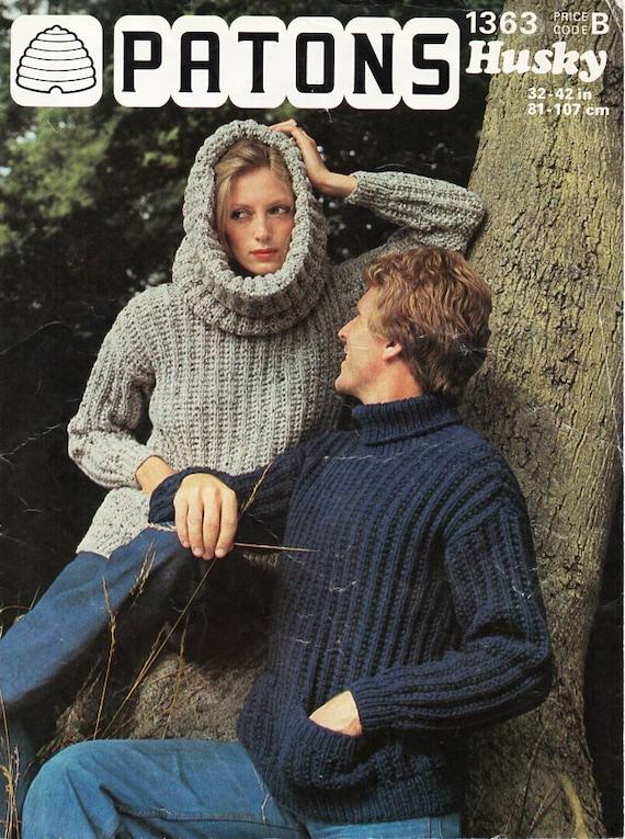 c6b93c04c0850 Vintage womens mens rib sweater knitting pattern pdf ladies
