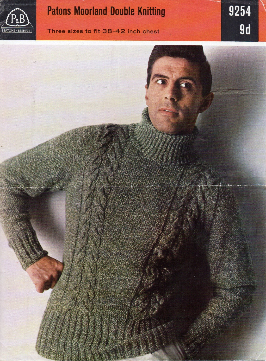 Mens Knitting Pattern Mens Cable Polo Neck Sweater Mens Sweater Polo ...
