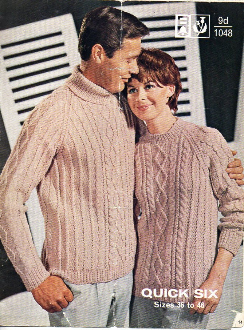 1b85fb389accf9 Womens mens aran sweaters knitting pattern PDF cable sweater