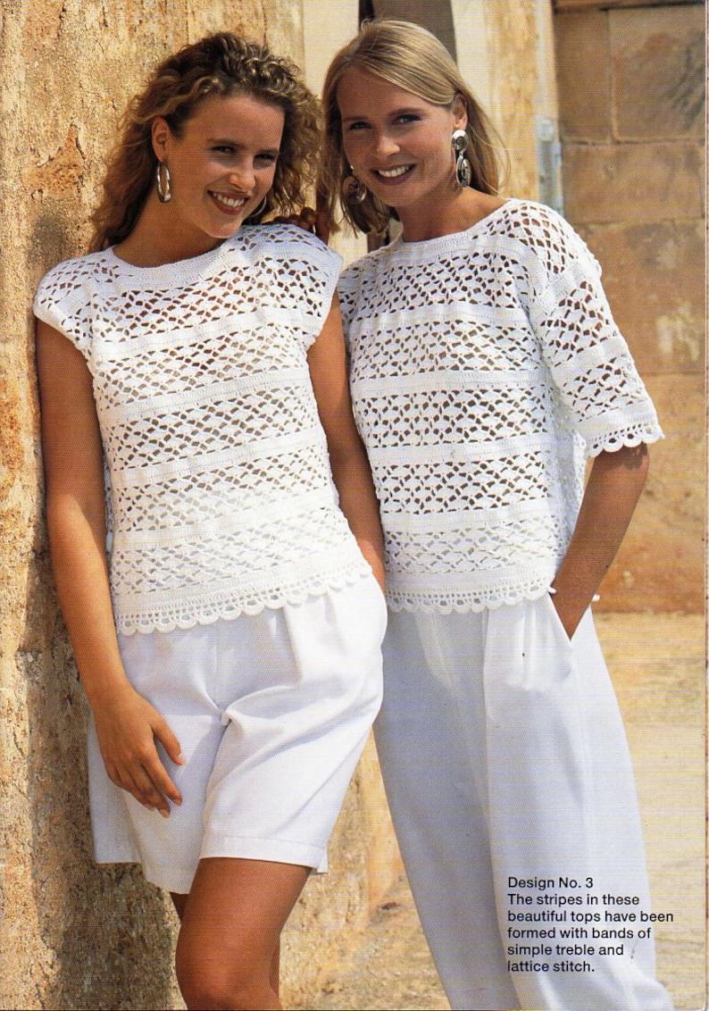 8afc1bb4855 Womens crochet tops crochet pattern crocheted sweater blouse   Etsy