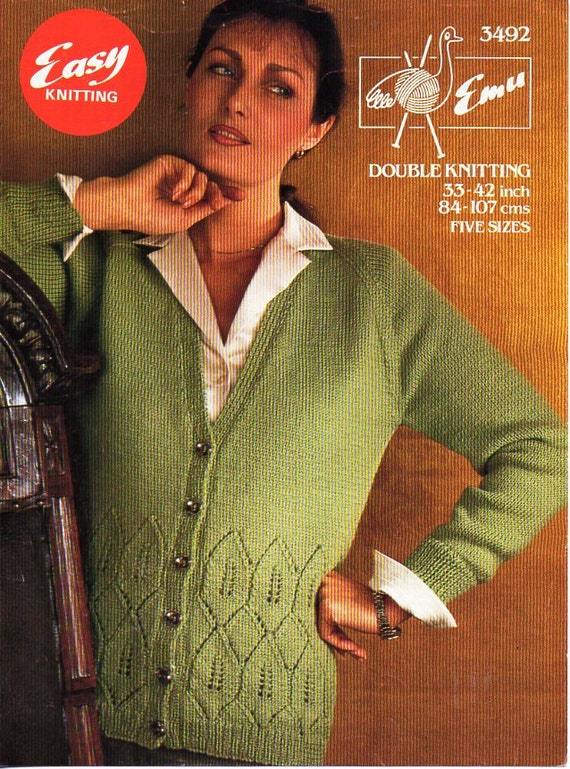 8ba9c20a1702 ladies knitting pattern pdf womens cardigan lace border jacket