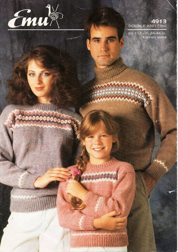 0c335301bed vintage fair isle sweater knitting pattern pdf womens mens